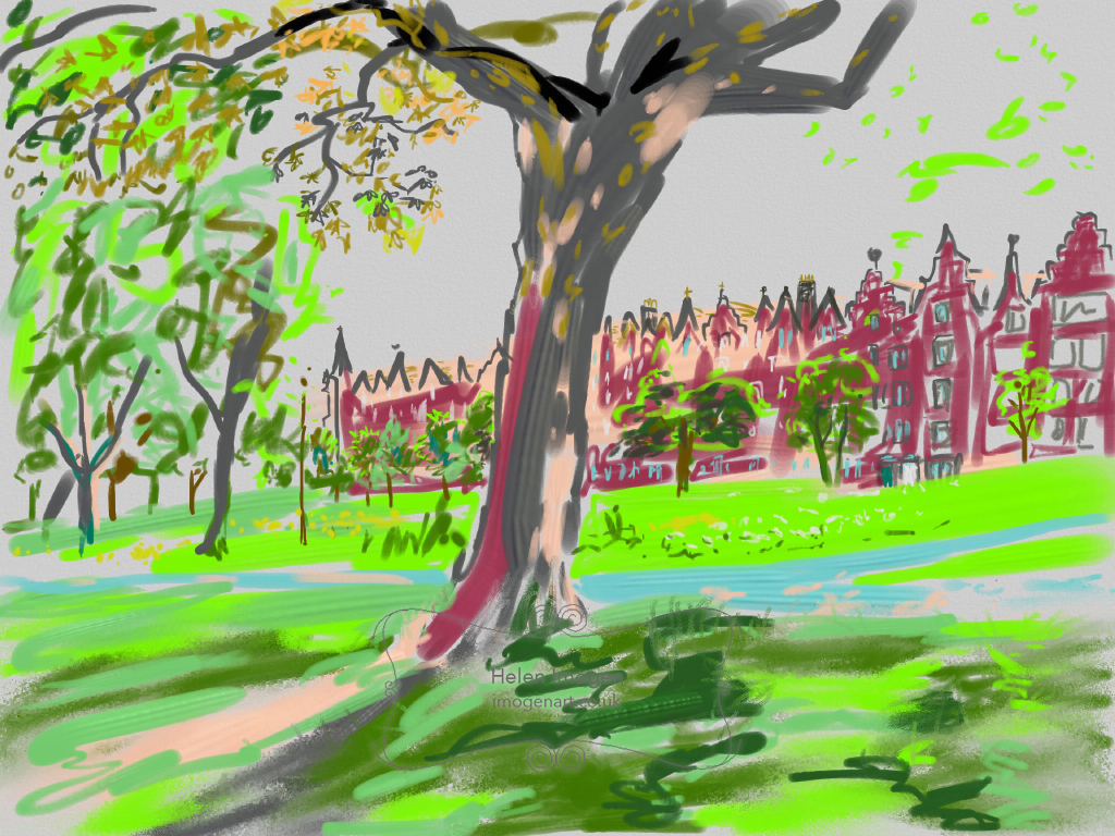 Warrender Park Terrace and the top of Bruntsfield golf links
